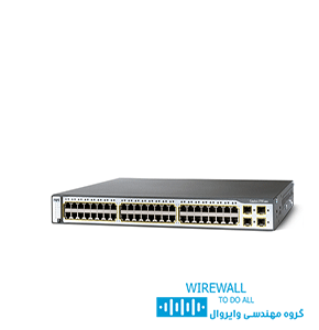 سوییچ cisco WS-c3750v2-48PS-Sسیسکو