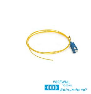 یگتیل فیبر نوری، کابل های آماده ای هستند که از یک سمت به آنها کانکتور فیبر نوری در کارخانه اتصال یافته است.پیگتیل ها در دو نوع سینگل مد و مالتی مد به صورت تکی یا پک 12 تایی ارائه می گردند. مشخصات فنی پیگتیل فیبر نوری نگزنس SC SM 1m N123.5MCA Nexans Pigtail - Part Number: N123.5MCA - Connector Type: SC -SM - Fiber Type: OM2 Length: 1m